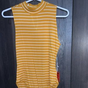 Yellow Striped Onsie